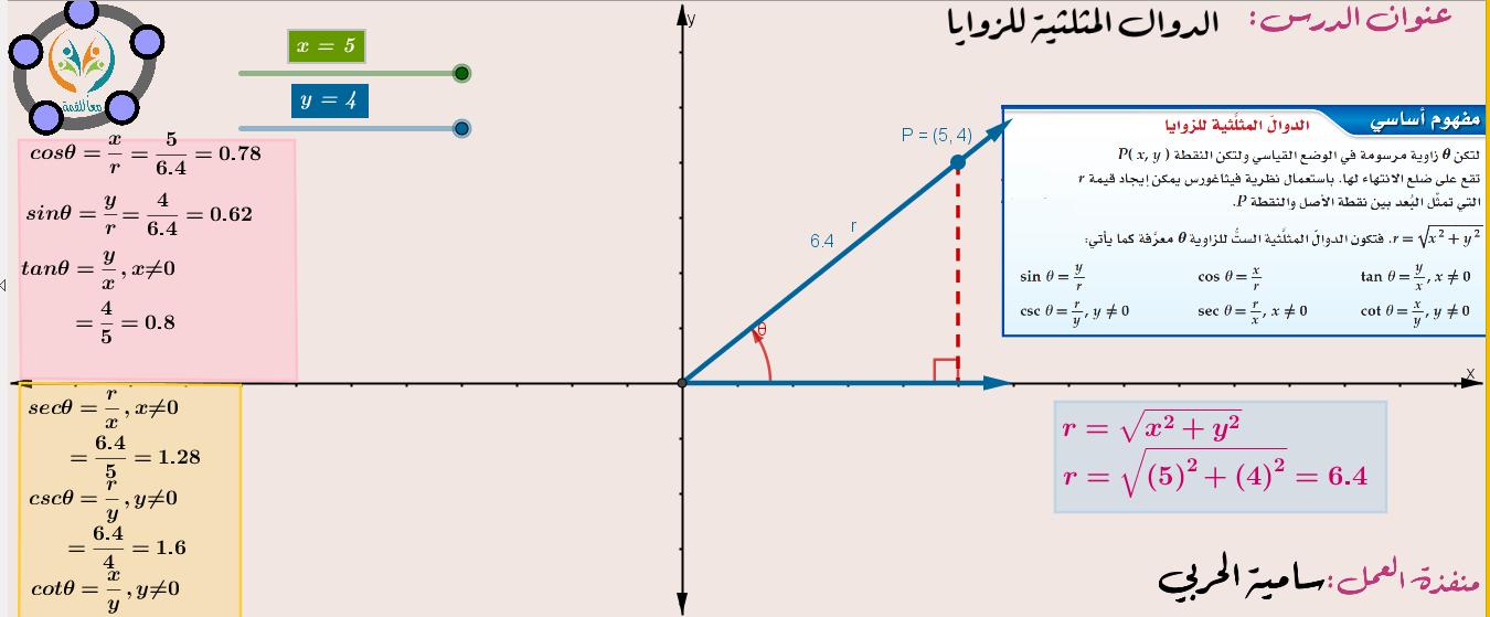 الدوال المثلثية للزوايا
